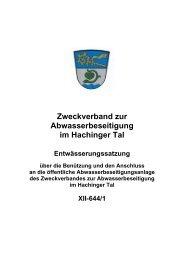 Zweckverband zur Abwasserbeseitigung im Hachinger Tal
