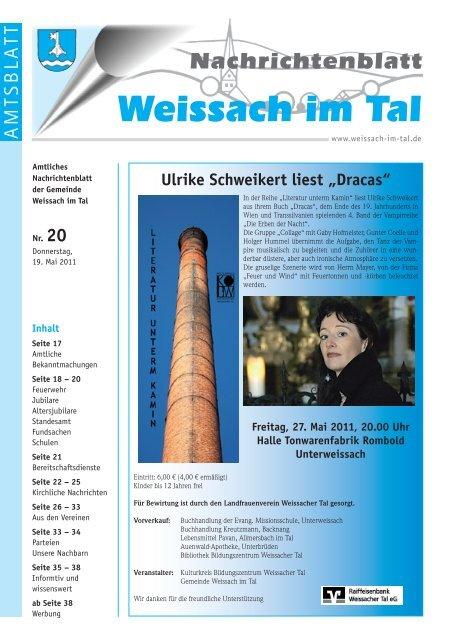 Sie sucht Ihn Single-Frauen in Weissach - Meinestadt