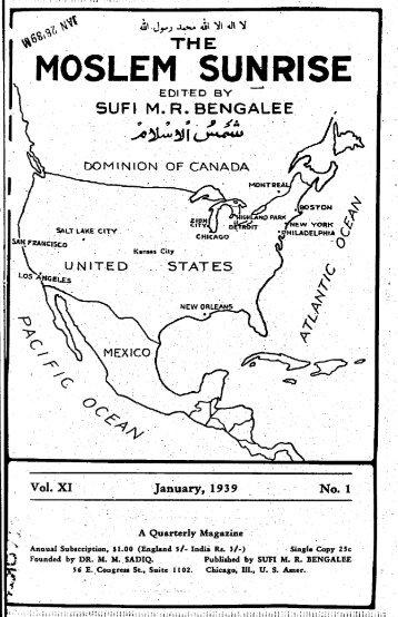 1939, I - The Muslim Sunrise