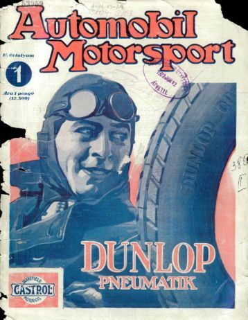 Automobil motorsport 1927 2. évfolyam 1. szám - EPA