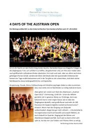 4 days of the austrian open - Performing Center Austria