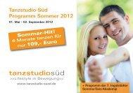Tanzstudio-Süd Programm Sommer 2012 - Branchenbuch ...