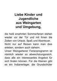 Detailiertes Ferienprogramm der Stadt Weingarten - DLRG ...