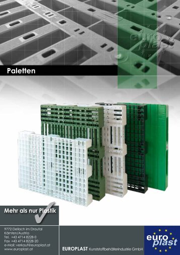 Paletten - Europlast