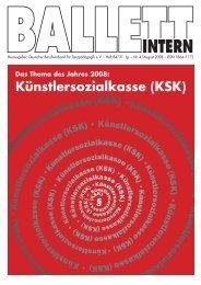 Künstlersozialkasse (KSK) - Deutscher Berufsverband für ...