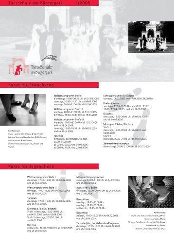 Kursprogramm I/2005 - Tanzschule Am Bürgerpark