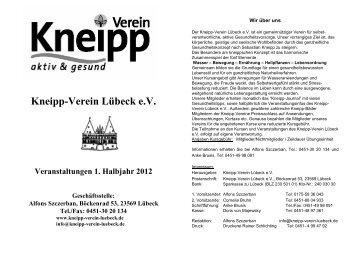 Oliver Wegener - Kneipp-Verein Lübeck eV