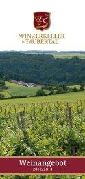 Weinangebot - Winzerkeller im Taubertal