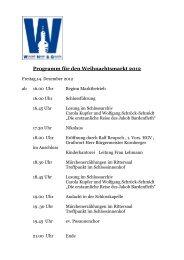Programm für den Weihnachtsmarkt 2012 - Weikersheim