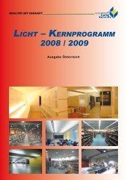LICHT – KERNPROGRAMM 2008 M 2009 - Euro Unitech