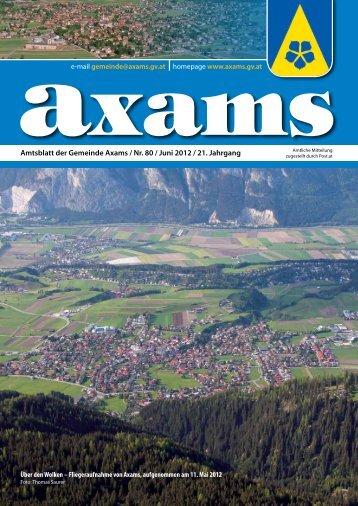 (7,45 MB) - .PDF - Gemeinde Axams - Land Tirol