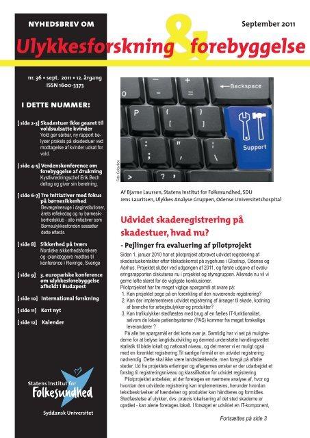 Ulykkesforskning forebyggelse - Statens Institut for Folkesundhed