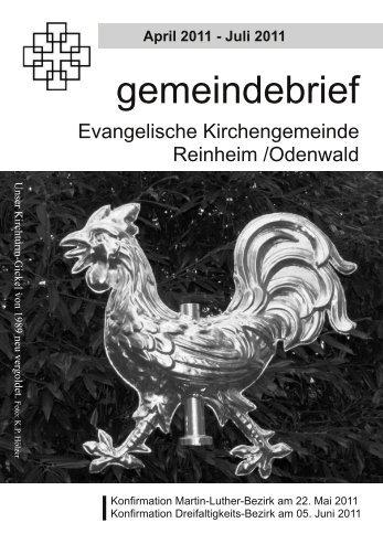 Gemeindebrief Ostern 2011 - Evangelische Kirche Reinheim