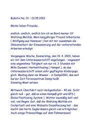 Bulletin No. 01 – 01.05.2001 Meine lieben ... - big-max-web.de
