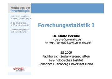 Verteilung intervallskalierter Daten Der QQ-Plot - Johannes ...