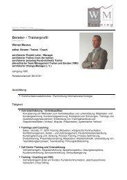 Berater- / Trainerprofil - Wirtschaft und Management - Training