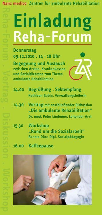 Einladung Reha-Forum - ZAR Mainz