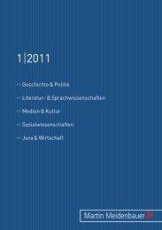 1 2011 - Martin Meidenbauer Verlag