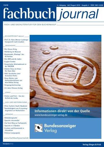 Fachverlag - Fachbuch-Journal