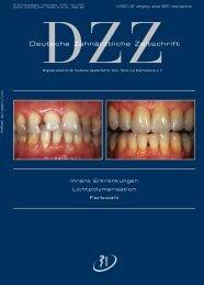 Deutsche Zahnärztliche Zeitschrift - Deutsche Gesellschaft für Zahn ...