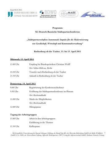 Programm XI. Deutsch-Russische ... - DRG Ettlingen