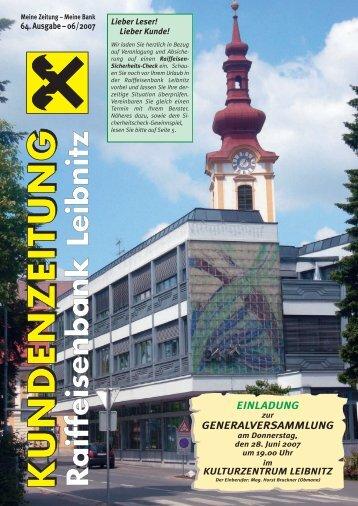 Zeitung 0607 - Raiffeisenbank Leibnitz