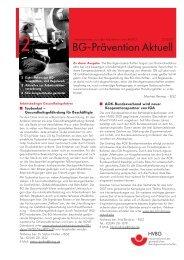 Informationen aus der Prävention des