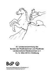 LV Heft 2010 - BdP - Landesverband Niedersachsen - Bund der ...