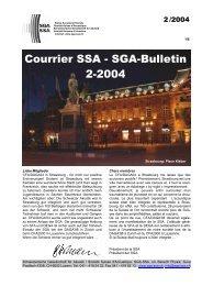 Courrier SSA - SGA-Bulletin 2-2004 - Schweizerische Gesellschaft ...