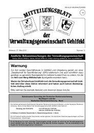 Warnung - Verwaltungsgemeinschaft Uehlfeld