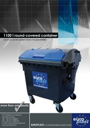 1100 l round-covered container - Europlast