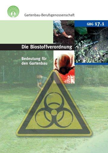 Die Biostoffverordnung - Arbeitssicherheit und Gesundheitsschutz ...