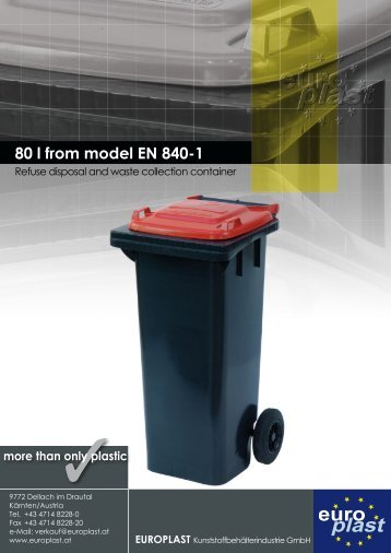 80 l from model EN 840-1 - Europlast