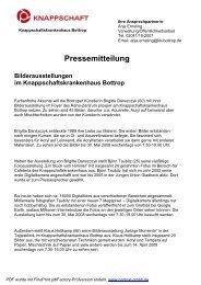 Pressemitteilung - Knappschaftskrankenhaus Bottrop