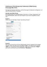 Anleitung zur Einrichtung eines Cablevision E-Mail-Kontos ...