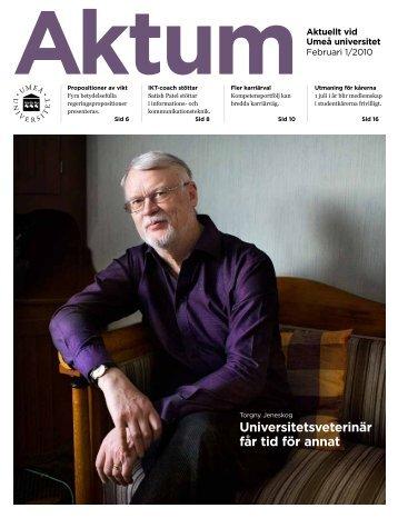 Aktum nr 1 - Umeå universitet