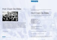 Hot Club De Bâle Hot Club De Bâle - Kultur in Reinach