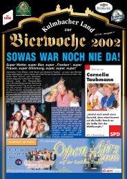 SOWAS WAR NOCH NIE DA! - Bierfestzeitung