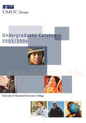 Undergraduate - UMUC Europe