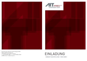 einladung - AIT Austrian Institute of Technology