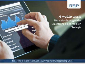 A mobile world - Tim Heine und Kilian Taubmann