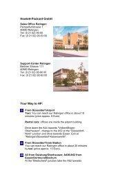 Hewlett-Packard GmbH Your Way to HP: