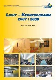 LICHT – KERNPROGRAMM 2007 M 2008 - Euro Unitech