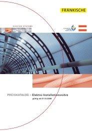 PREISKATALOG – Elektro-Installationsrohre - Euro Unitech
