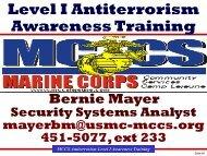 Level I Antiterrorism Awareness Training - MCCS Camp Lejeune