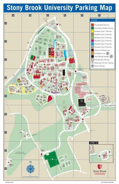 campus map stony brook View The Stony Brook University Parking Map campus map stony brook