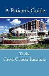 Patient Guide to the Cross Cancer Institute - Alberta Health Services