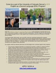 NEW - University of Colorado Denver