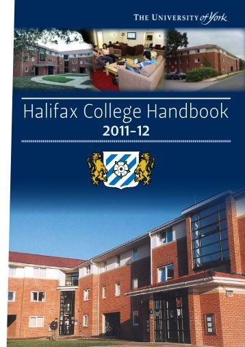 Halifax College Handbook 2011-12 - University of York