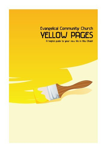 YELLOW PAGES - Evangelical Community Church of Abu Dhabi